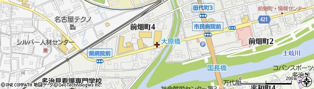 岐阜県多治見市前畑町周辺の地図