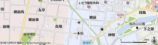 愛知県一宮市浅井町西浅井周辺の地図