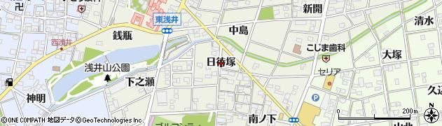 愛知県一宮市浅井町東浅井(日待塚)周辺の地図