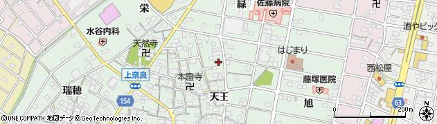 愛知県江南市上奈良町(天王)周辺の地図