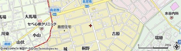 愛知県江南市島宮町周辺の地図