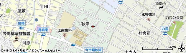 愛知県江南市今市場町周辺の地図