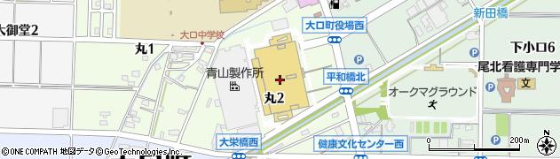 若鯱家アピタ大口店周辺の地図