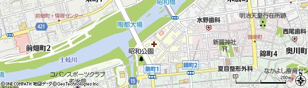 岐阜県多治見市昭和町周辺の地図