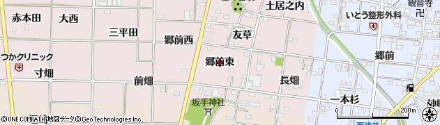 愛知県一宮市富塚(郷前東)周辺の地図