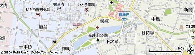 愛知県一宮市浅井町東浅井(銭瓶)周辺の地図