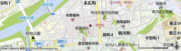 岐阜県多治見市御幸町周辺の地図