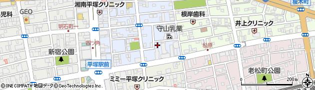 神奈川県平塚市宮の前周辺の地図