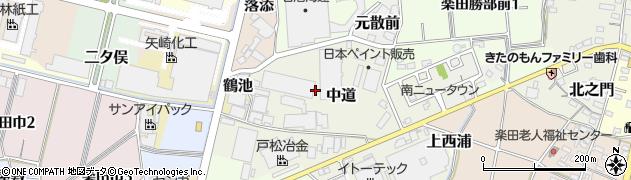 愛知県犬山市中道周辺の地図