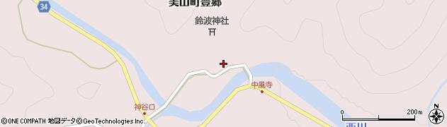 京都府南丹市美山町豊郷(宮ノ口)周辺の地図