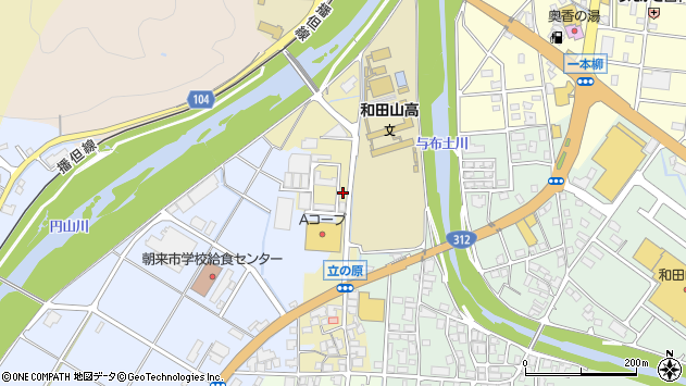 〒669-5268 兵庫県朝来市和田山町立ノ原の地図