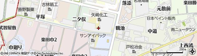 愛知県犬山市鶴池周辺の地図