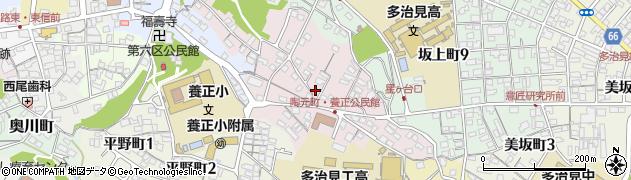 岐阜県多治見市陶元町周辺の地図