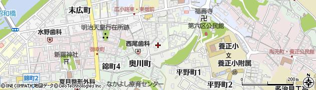 岐阜県多治見市窯町周辺の地図