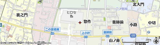 愛知県犬山市惣作周辺の地図