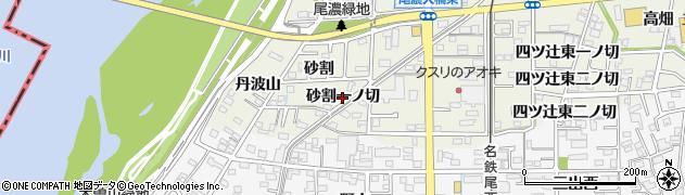 愛知県一宮市木曽川町玉ノ井(砂割一ノ切)周辺の地図