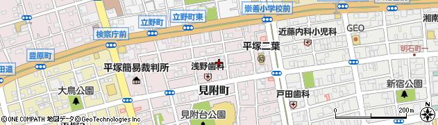 神奈川県平塚市見附町周辺の地図
