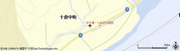 京都府綾部市十倉中町(森)周辺の地図