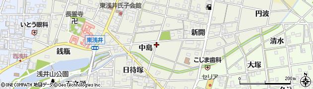 愛知県一宮市浅井町東浅井(中島)周辺の地図