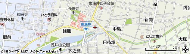 愛知県一宮市浅井町東浅井(本郷清水)周辺の地図