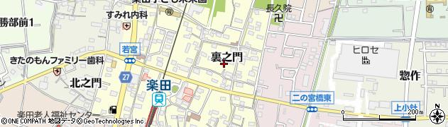 愛知県犬山市裏之門周辺の地図