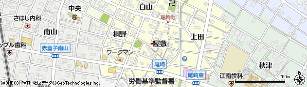 愛知県江南市尾崎町(屋敷)周辺の地図