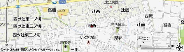 愛知県一宮市木曽川町三ツ法寺(村西)周辺の地図