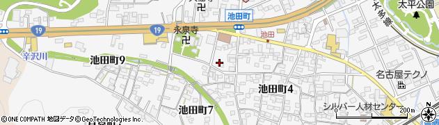 岐阜県多治見市池田町周辺の地図