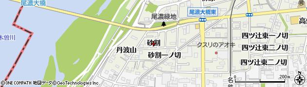 愛知県一宮市木曽川町玉ノ井(砂割)周辺の地図