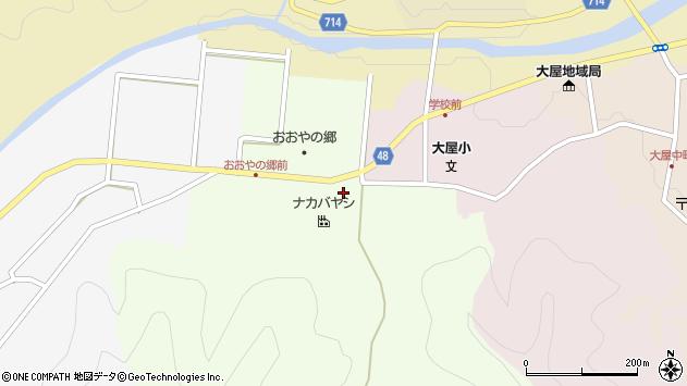 〒667-0313 兵庫県養父市大屋町笠谷の地図
