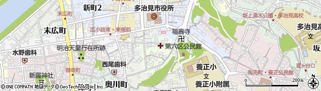 岐阜県多治見市神楽町周辺の地図