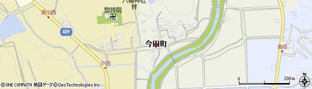 京都府綾部市今田町周辺の地図
