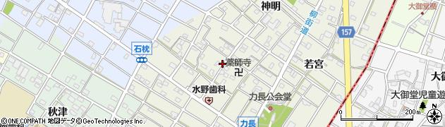 愛知県江南市力長町(神出)周辺の地図