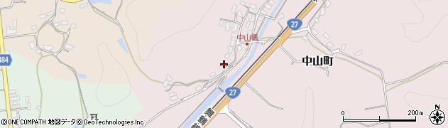 京都府綾部市中山町(サクラ)周辺の地図