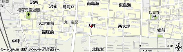 愛知県一宮市木曽川町門間(大坪)周辺の地図