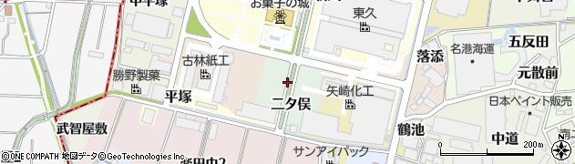 愛知県犬山市二タ俣周辺の地図