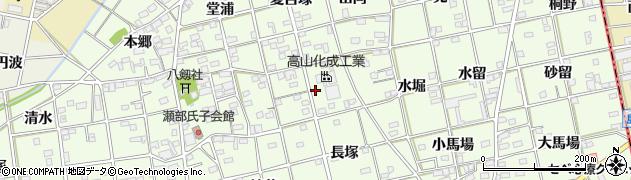 愛知県一宮市瀬部(中道)周辺の地図