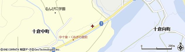 京都府綾部市十倉中町(張田)周辺の地図