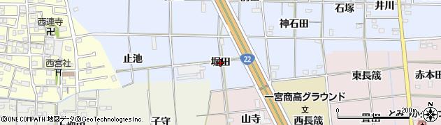 愛知県一宮市高田(堀田)周辺の地図