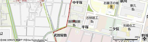 愛知県犬山市羽黒新田(下平塚)周辺の地図