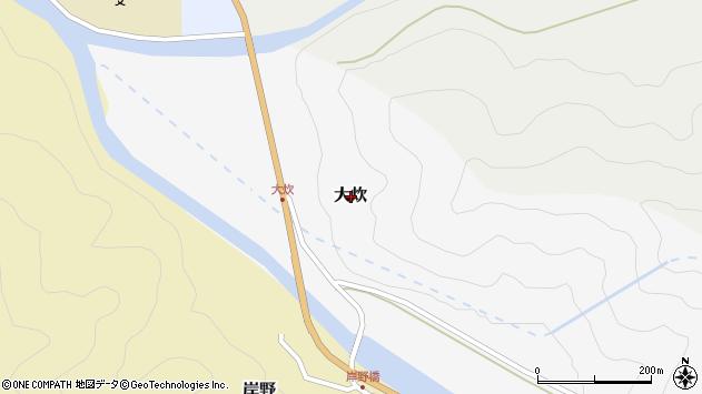 〒680-0741 鳥取県八頭郡若桜町大炊の地図