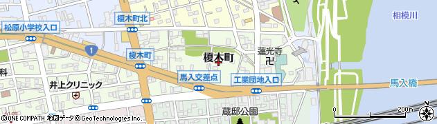 神奈川県平塚市榎木町周辺の地図