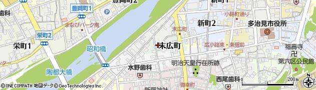 岐阜県多治見市末広町周辺の地図