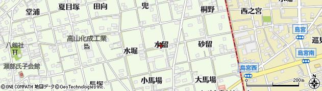 愛知県一宮市瀬部(水留)周辺の地図