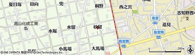 愛知県一宮市瀬部(砂留)周辺の地図