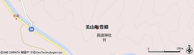 京都府南丹市美山町豊郷周辺の地図