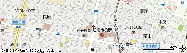 愛知県江南市赤童子町(大堀)周辺の地図
