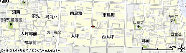 愛知県一宮市木曽川町門間(上新田)周辺の地図