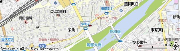 岐阜県多治見市栄町周辺の地図