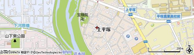 神奈川県平塚市上平塚周辺の地図